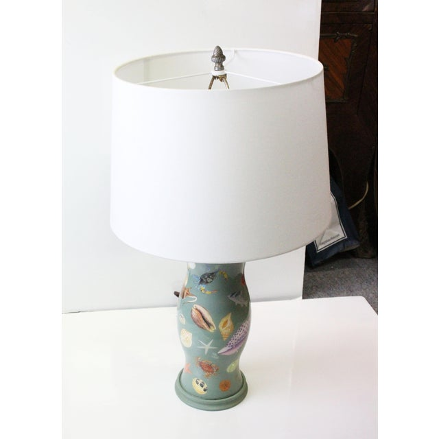 Turquoise Sea Creature Lamp For Sale - Image 8 of 8