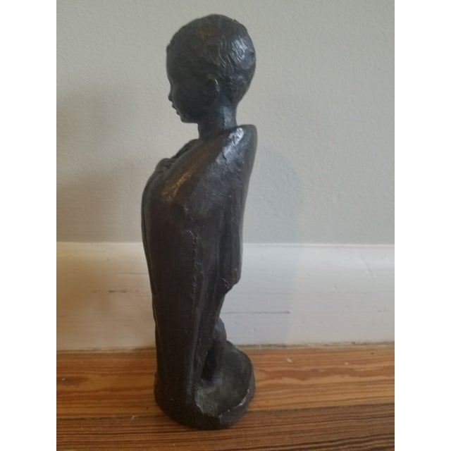 1950s Vintage Mpi Boy Sculpture For Sale In Miami - Image 6 of 7