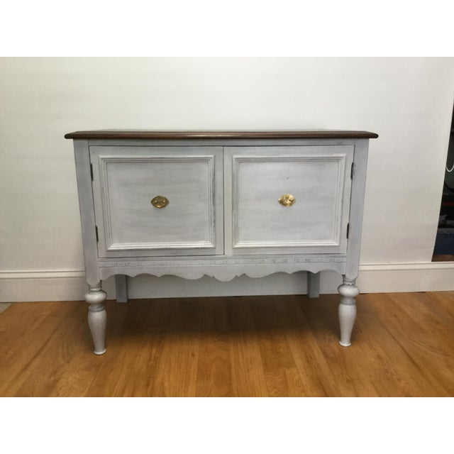 Gold 1930s Rustic Farmhouse Server Buffet For Sale - Image 8 of 8
