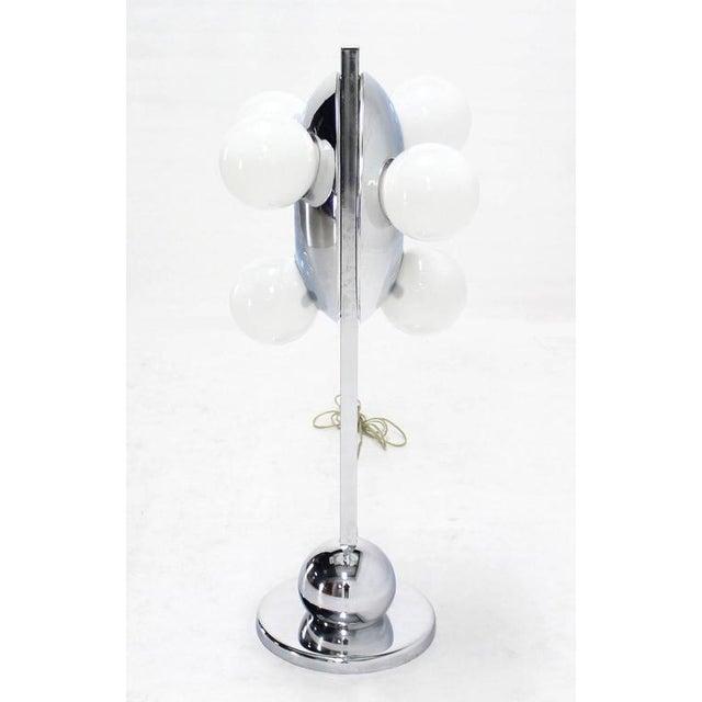 Unusual Mid-Century Modern six globe table lamp.