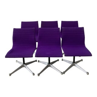 1980s Herman Miller Eames Aluminum Group Chairs - Set of 6 For Sale