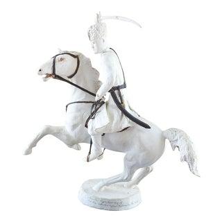 Russian Cossack on Horseback Antique Plaster Maquette Sculpture For Sale