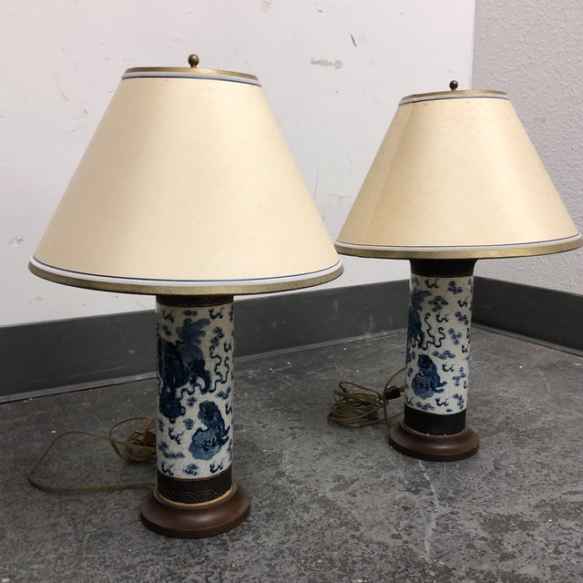 Pair of Antique Ming Dynasty Vase Table Lamps For Sale - Image 11 of 13