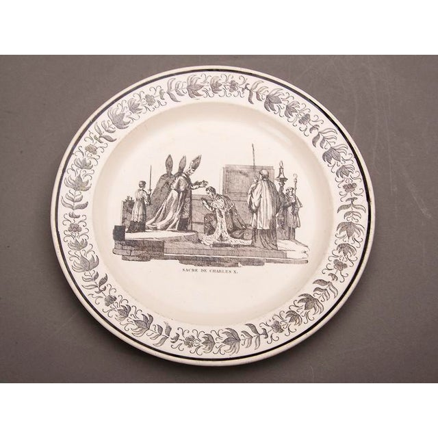 Set Eight Antique French Transferware Plates, c.1860 For Sale In Houston - Image 6 of 11