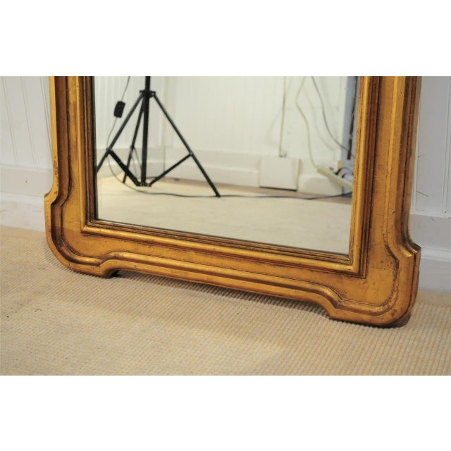 1950s Italian Carved Wood Gold Scroll Shell Form Wall Console Decorator Mirror - Image 3 of 9