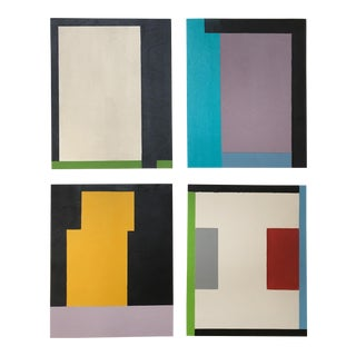 Abstract Memphis Art - Geometric Paintings - Set of Four For Sale