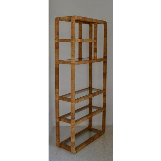 Mid-Century Rattan Bookcase For Sale - Image 12 of 13