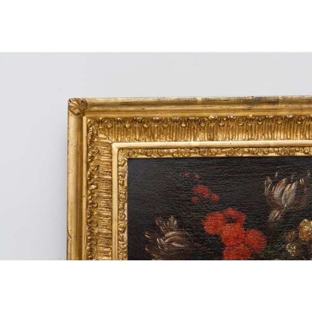 Mid 19th Century 19th Century Floral Still Life Oil Painting in Gold Frame For Sale - Image 5 of 9