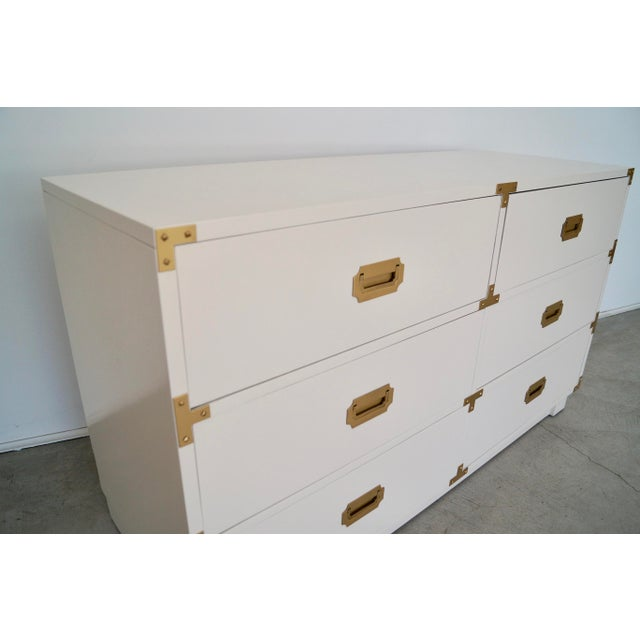 1960's Mid-Century Hollywood Regency Campaign Dresser For Sale - Image 9 of 13