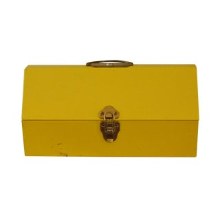 Yellow Metal Toolbox For Sale