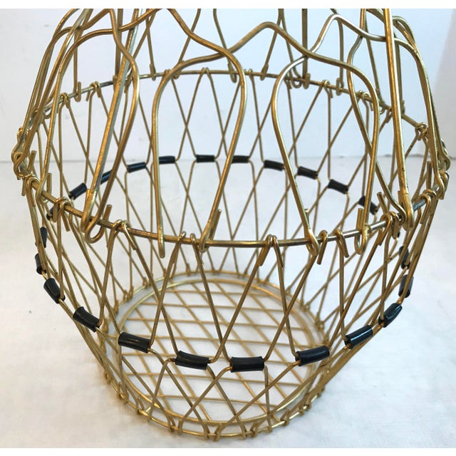Mid Century Folding Wire Basket For Sale - Image 9 of 10