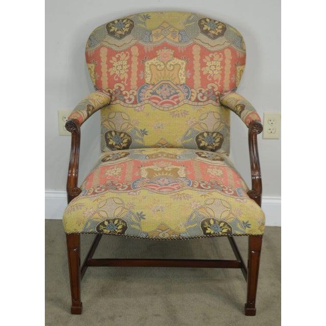 Smith & Watson Smith & Watson Hepplewhite Mahogany Pair Open Armchairs For Sale - Image 4 of 13