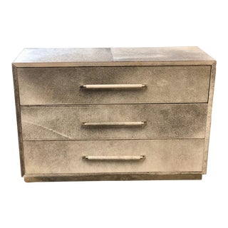Contemporary Cowhide Chest With Drawers For Sale