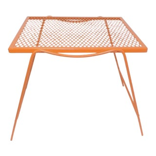 Mid-Century Modern Orange Wire End Table For Sale