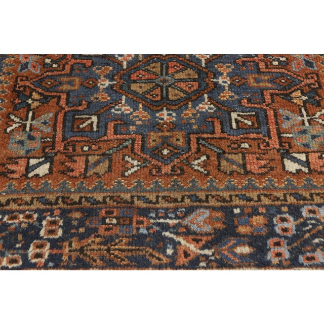 Antique Persian Karaja Heriz Rug With Mid-Century Modern Style, 3'6x4'6 For Sale - Image 9 of 9