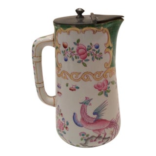 Late 1880s Minton of England Porcelain Syrup Pitcher For Sale