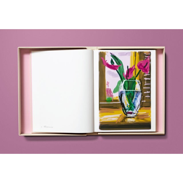 """Not Yet Made - Made To Order TASCHEN Books Autographed David Hockney """"My Window"""" Painting Collection, Collectors Edition For Sale - Image 5 of 8"""