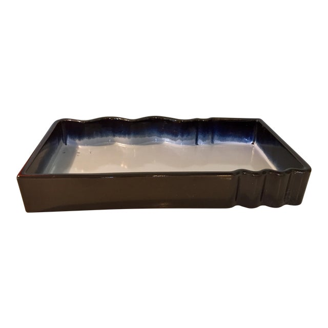 Japanese Ikebana Glazed Ceramic Pottery For Sale