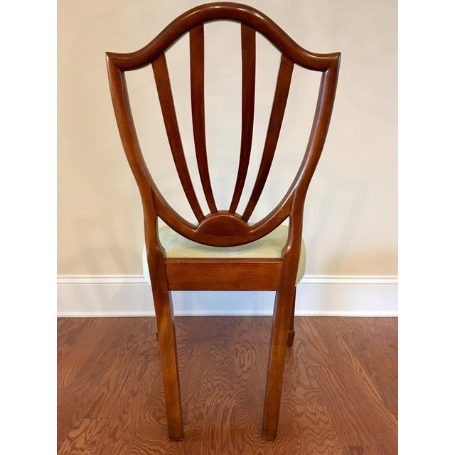 Baker Furniture Company Baker Shield Back Mahogany Dining Chairs - Set of 6 For Sale - Image 4 of 10