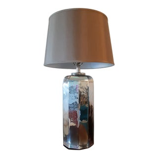 Mercury Glass Table Lamp by Pottery Barn For Sale