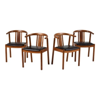 Set of Four Danish Mid-Century Modern-Style Dining Chairs For Sale