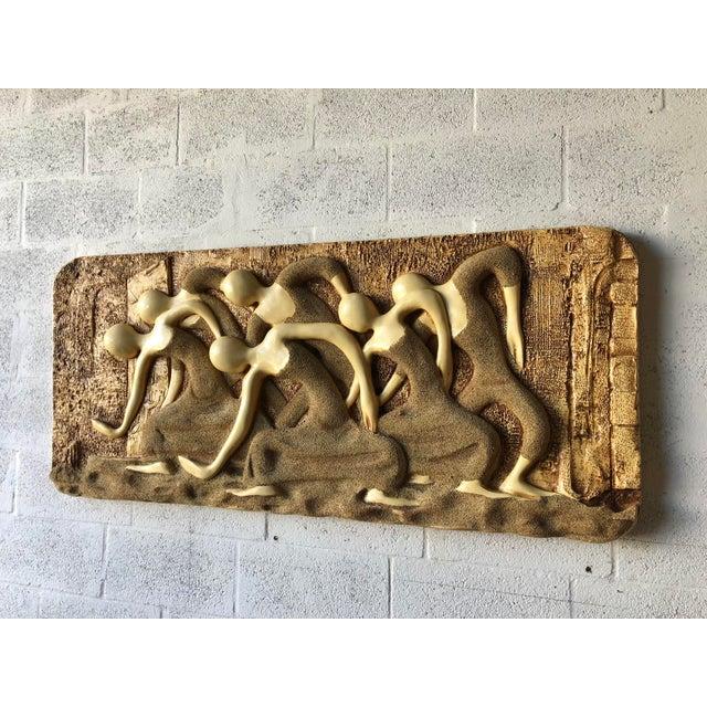 Large Vintage Mid Century Modern Brutalist Finesse Originals Fiberglass Signed Wall Hanging Sculpture. C 1960s Spectacular...