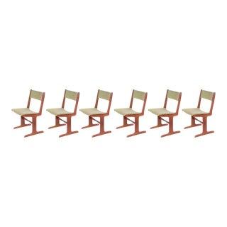 Danish Modern Cantilever Teak Dining Chairs - Set of 6