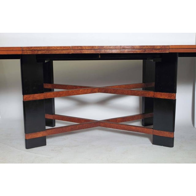Lacquer Art Deco Hastings Dining Table / Chairs Double X-Base Teague / Deskey For Sale - Image 7 of 11