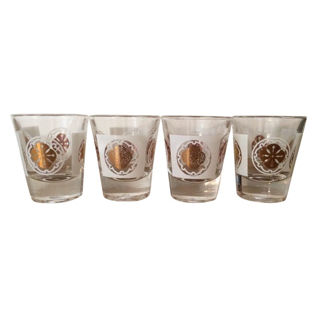 Mid-Century Medallion Shot Glasses- Set of 4 - Image 1 of 5