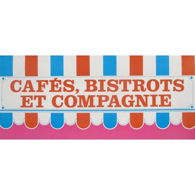 1977 Original Exhibition Poster - Centre De Création Industrielle, Cafés, Bistrots Et Compagnie For Sale - Image 4 of 7