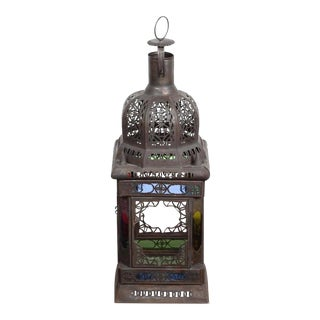Moroccan Moorish Glass Candle Lantern or Pendant For Sale