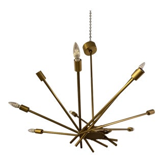 Arteriors Webster Antique Brass 10-Light Chandelier For Sale