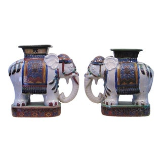 Chinese Elephant Garden Stools - a Pair For Sale