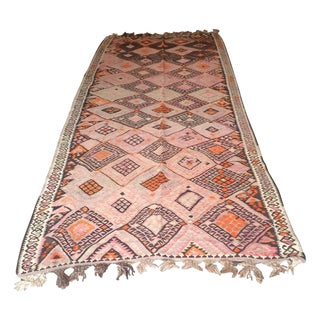 "Vintage Turkish Kars Kilim - 4'2"" X 10'4"""