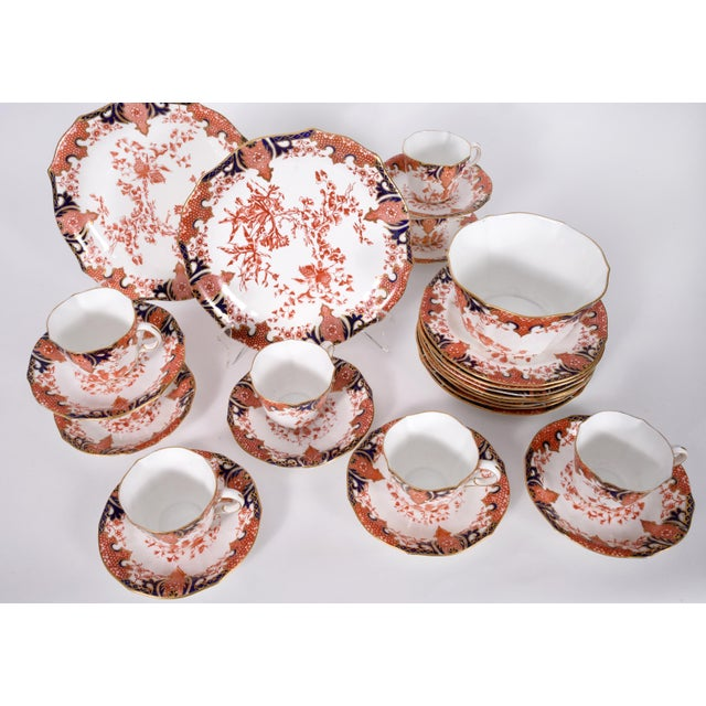 Antique English derby royal crown chinaware luncheon service for eight people. Each piece is in excellent antique...