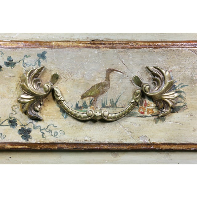 Italian Rococo Lacca Povera Painted Commode For Sale - Image 4 of 11