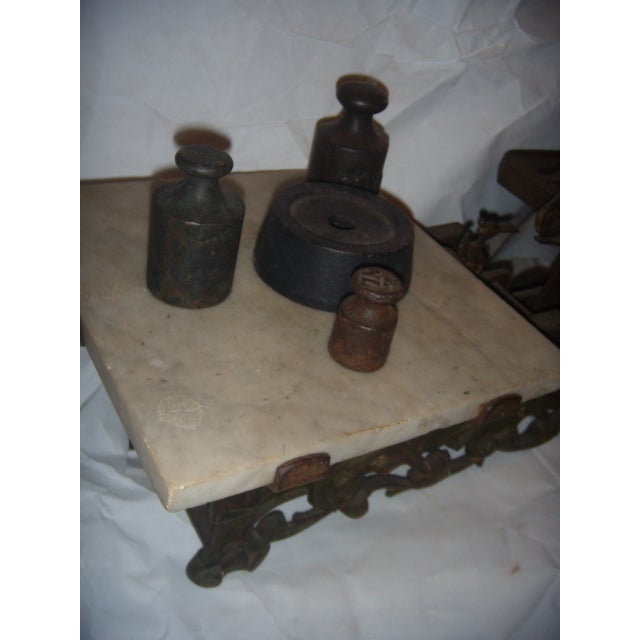 Victorian German Made Cast Iron & Marble Scale For Sale In New York - Image 6 of 11