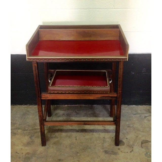 1950's Walnut and Acrylic Folding Bar For Sale - Image 10 of 10