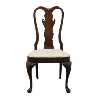 Late 20th Century Vintage Hickory Furniture American Masterpiece Queen Anne Dining Side Chair For Sale