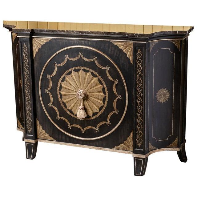 Black Black Marble Top Cabinet For Sale - Image 8 of 8