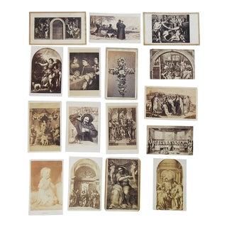 Antique Collection Grand Tour Religious Art Photographs - Set of 16 For Sale