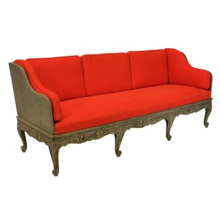 A Large Swedish Carved & Painted Day Bed / Settee For Sale