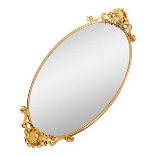 Vintage Hollywood Regency Gold Filigree Perfumel Mirror