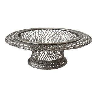 Christofle Weaved Bread or Fruit Basket, France 1862-1935 Mark For Sale