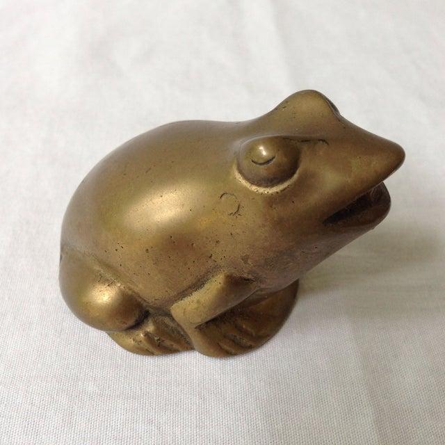 Vintage Brass Frog - Image 2 of 4