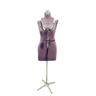 Vintage Dress Form Model on Stand For Sale