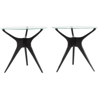1950s Vladimir Kagan Walnut Trisymmetric End Tables - a Pair For Sale