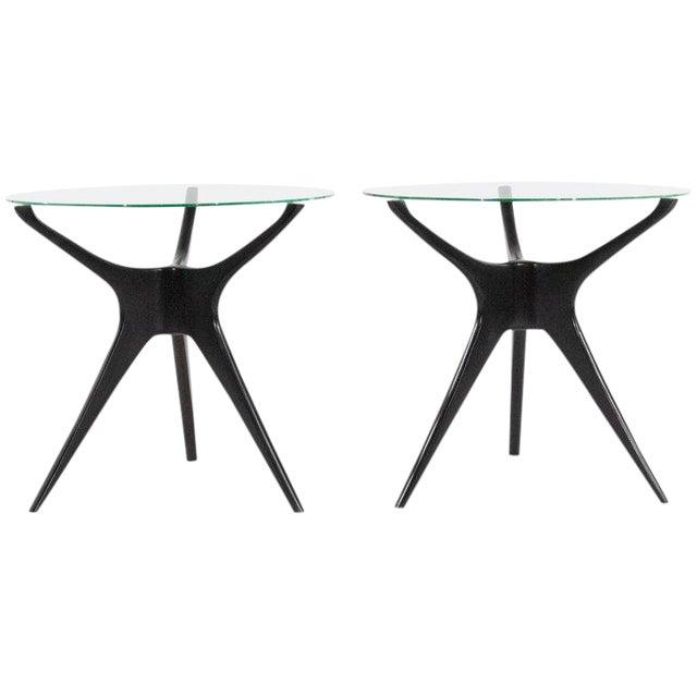 1950s Vladimir Kagan Walnut Trisymmetric End Tables - a Pair For Sale