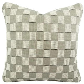 "Pierre Frey Kanumera Self-Welt Argile Pillow Cover - 20"" X 20"" For Sale"