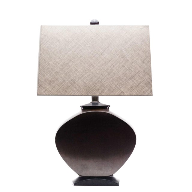 Lawrence & Scott Audrey Table Lamp in Brass For Sale